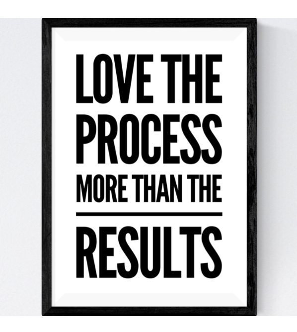 LOVE the process…