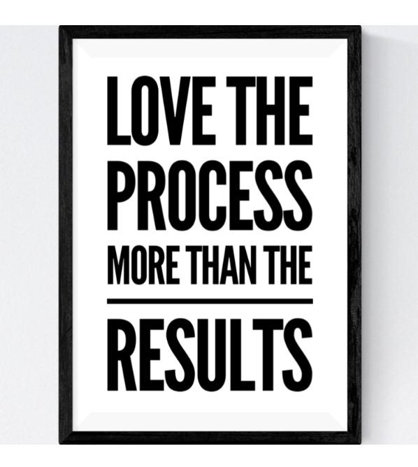 LOVE the process…
